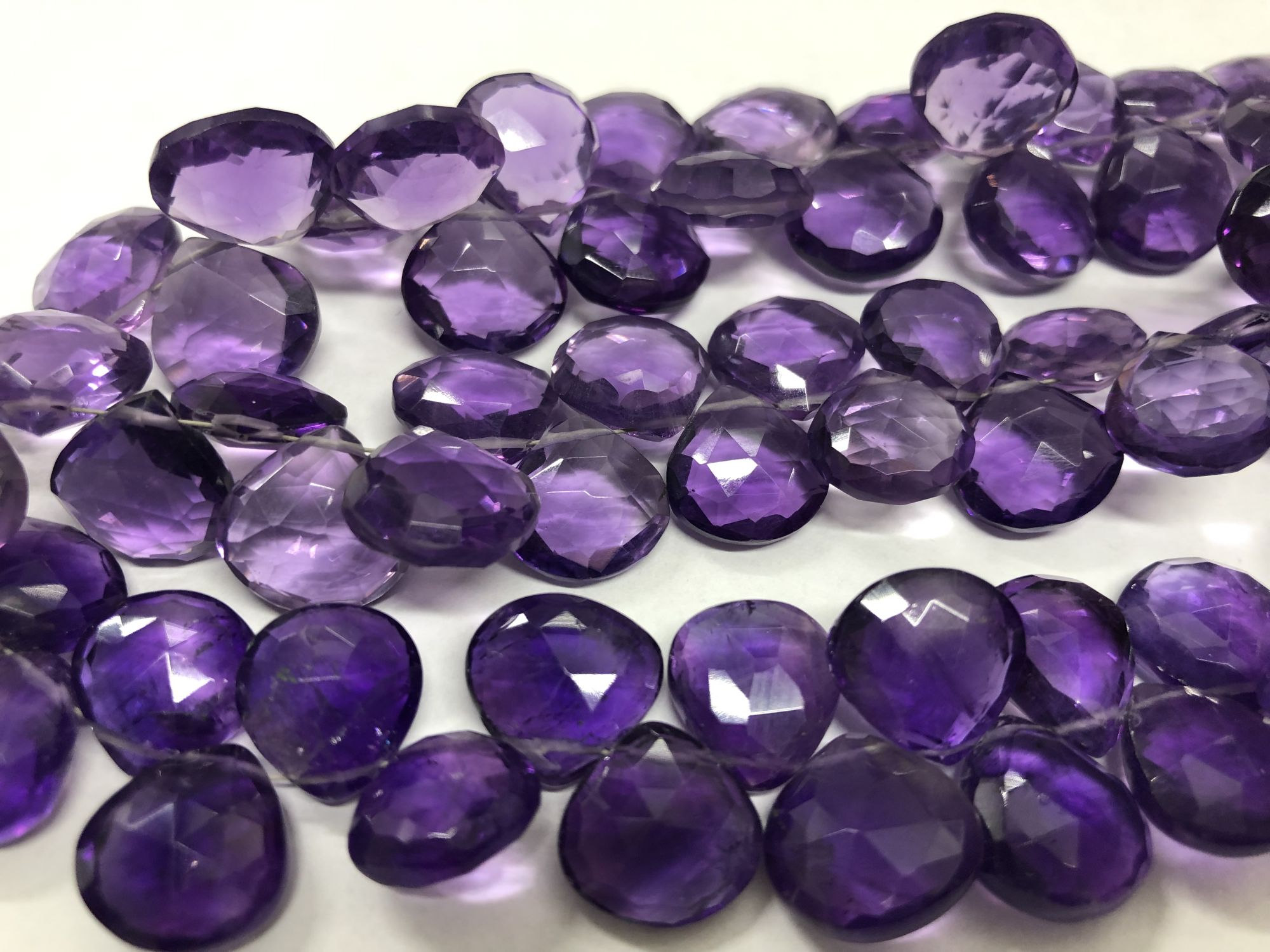 Amethyst Hearts Faceted