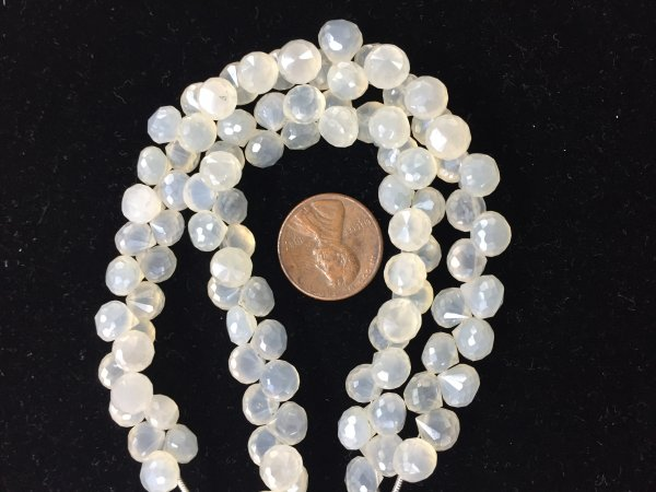 White Chalcedony onions Faceted