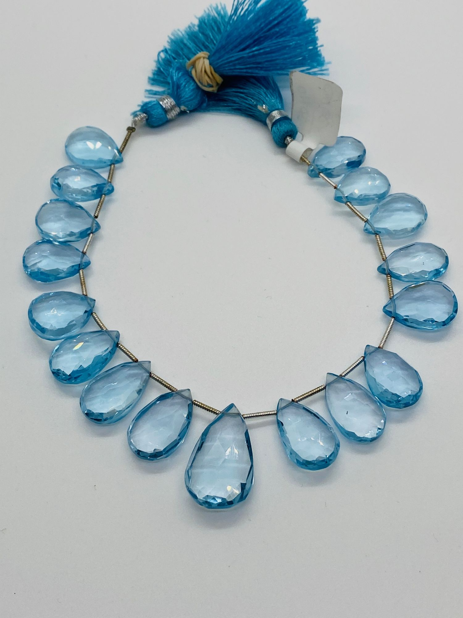 Sky Blue Topaz Pears Faceted