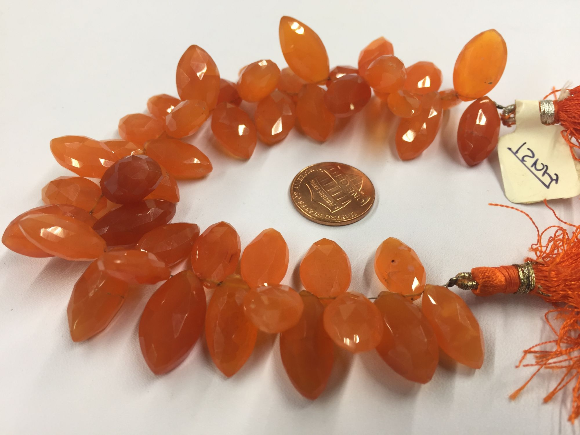 Carnelian Marquise  Faceted