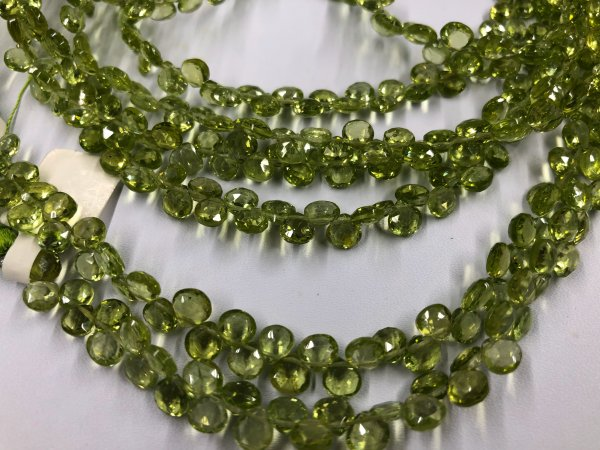 Peridot Heart Faceted