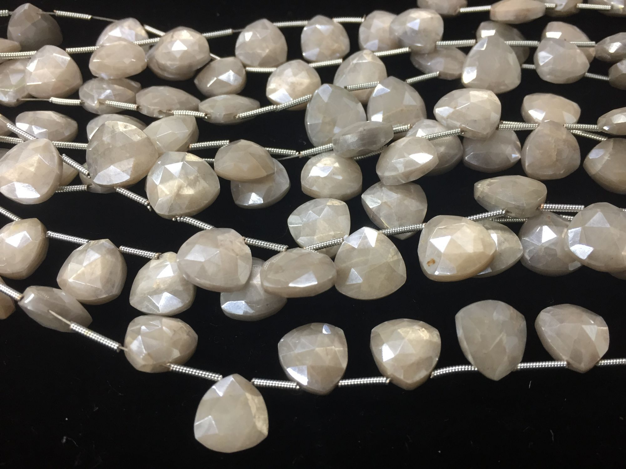 Mystic Moonstone Trillion  Faceted