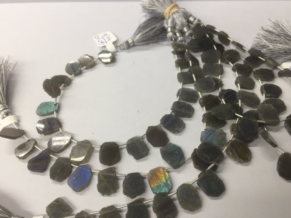 Labradorite Slices Faceted