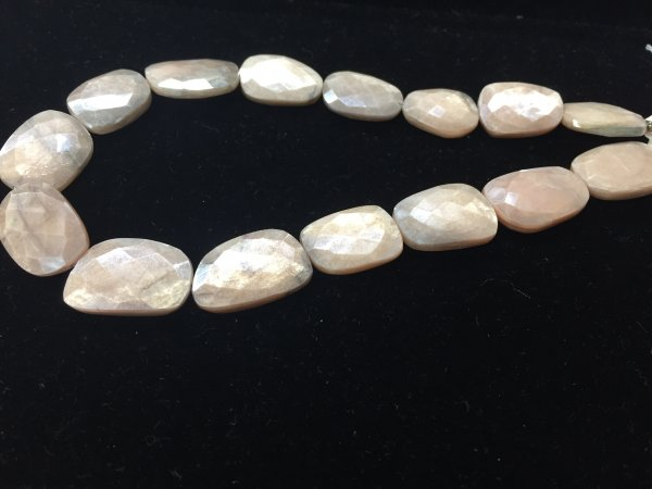 Moonstone Nuggets Faceted
