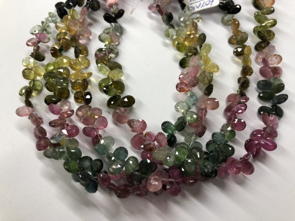 Watermelon Tourmaline Pears Faceted