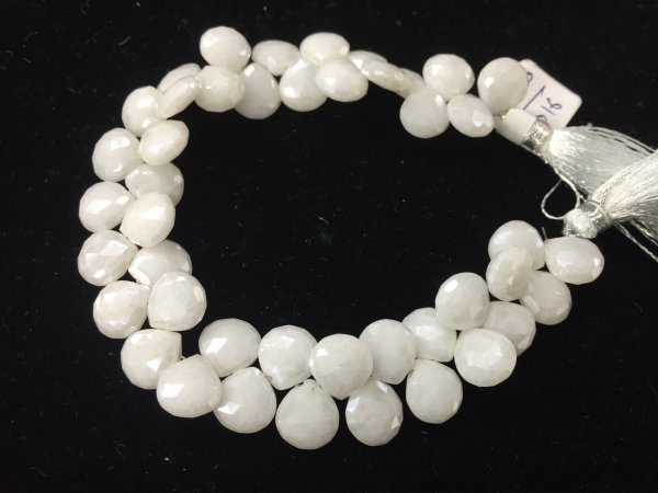 White Mystic Silverite Heart Faceted (Platinum Polished)