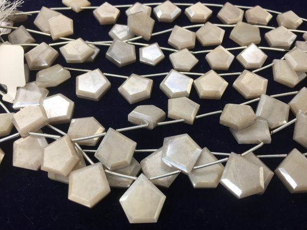 Moonstone Pentagon Shape Faceted
