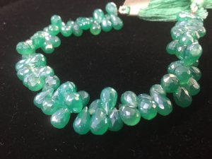 Mystic Green Onyx  Drops Faceted