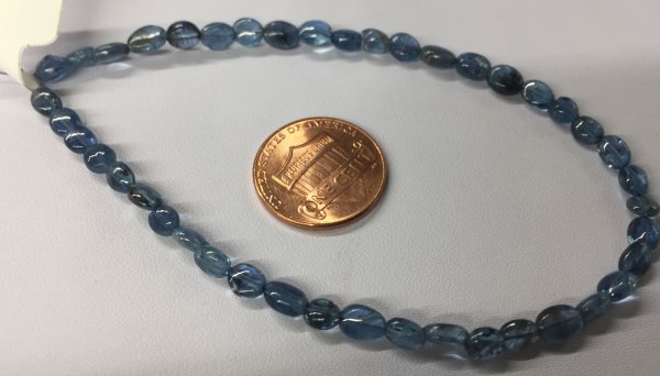 Aquamarine Ovals Smooth