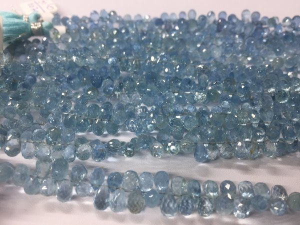 Aquamarine Drops Faceted