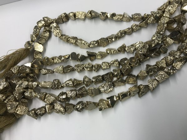 Pyrite Rough Cut Nuggets Faceted coated