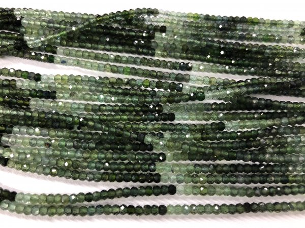 Natural  Tourmaline Rondelles Faceted