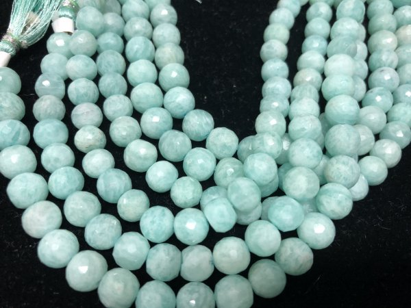 Amazonite Rounds Faceted