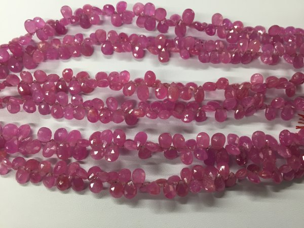 Pink sapphire Pears Faceted (GF)