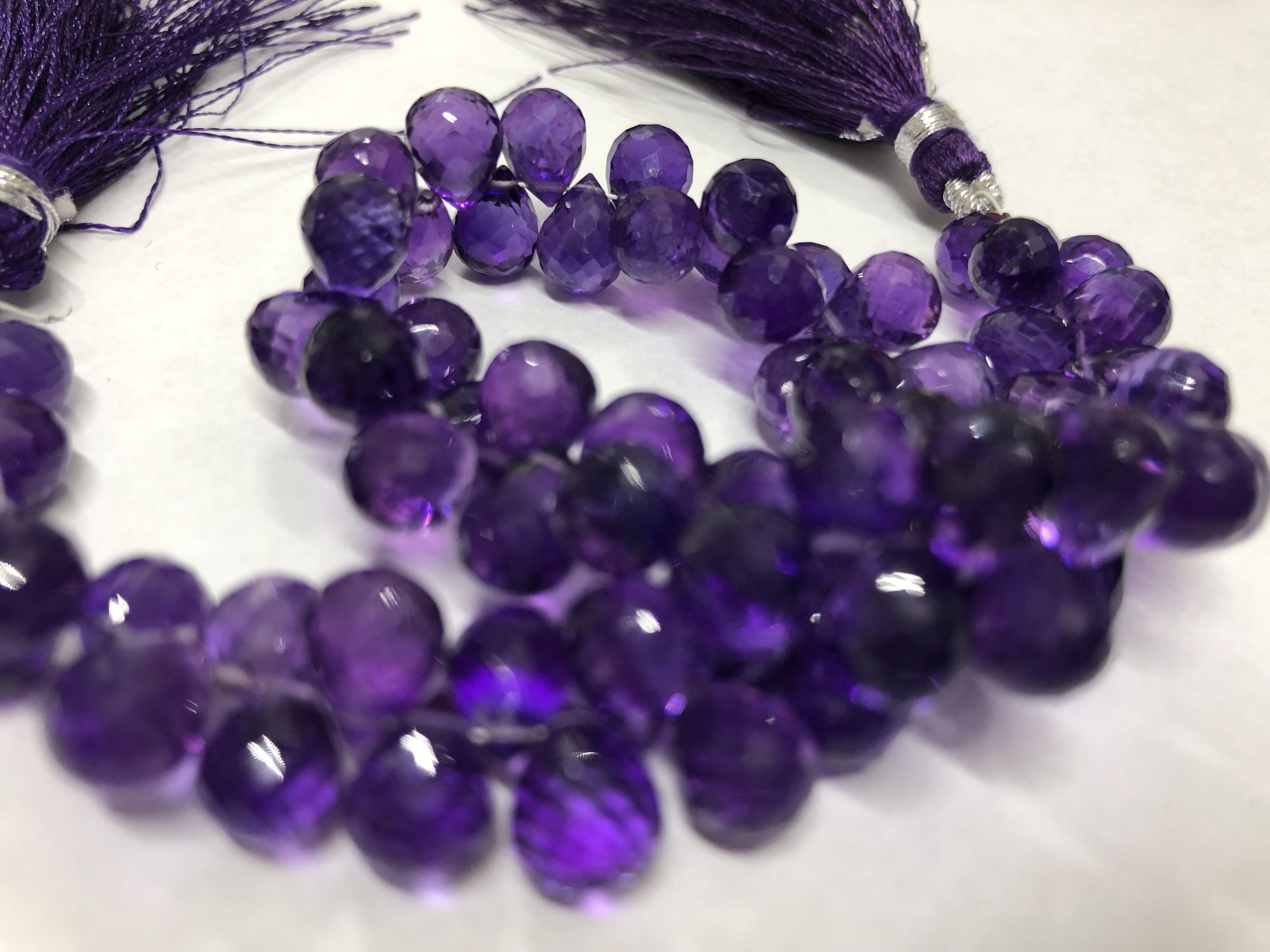 Amethyst Drops Faceted