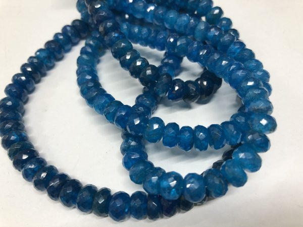 Apatite Rondelles Faceted