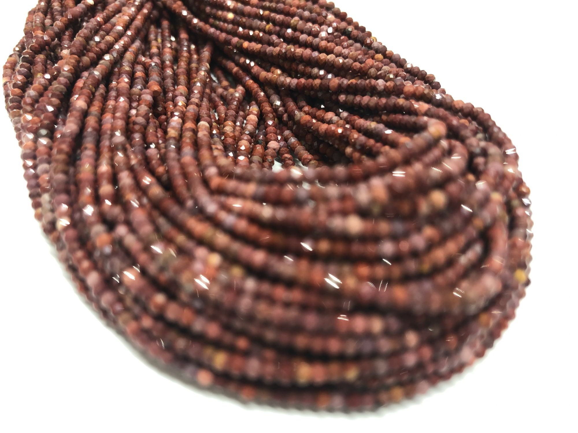 Mookaite Rondelles Faceted