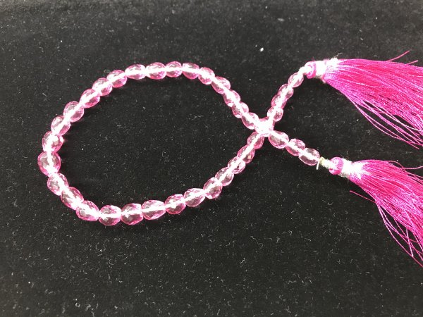 Pink Quartz Straight Drill Drops Faceted