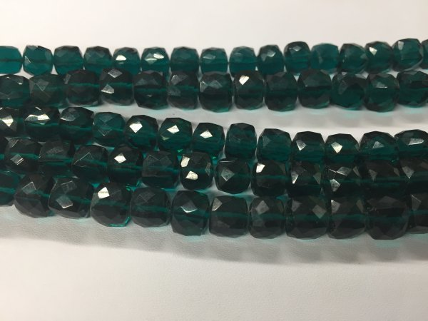 Dark Green Hydro Quartz Cubes