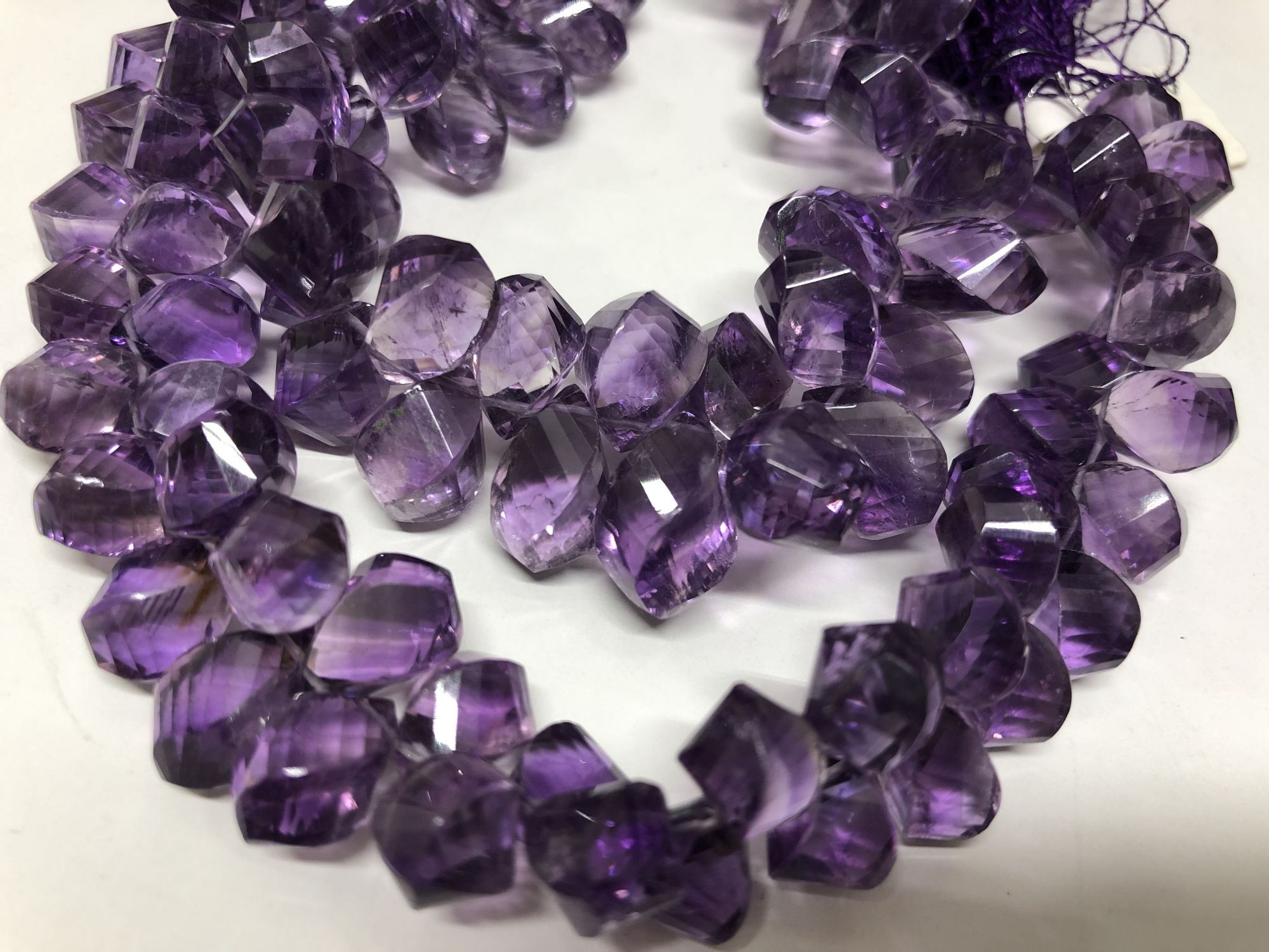 Amethyst Twisted Drops Faceted