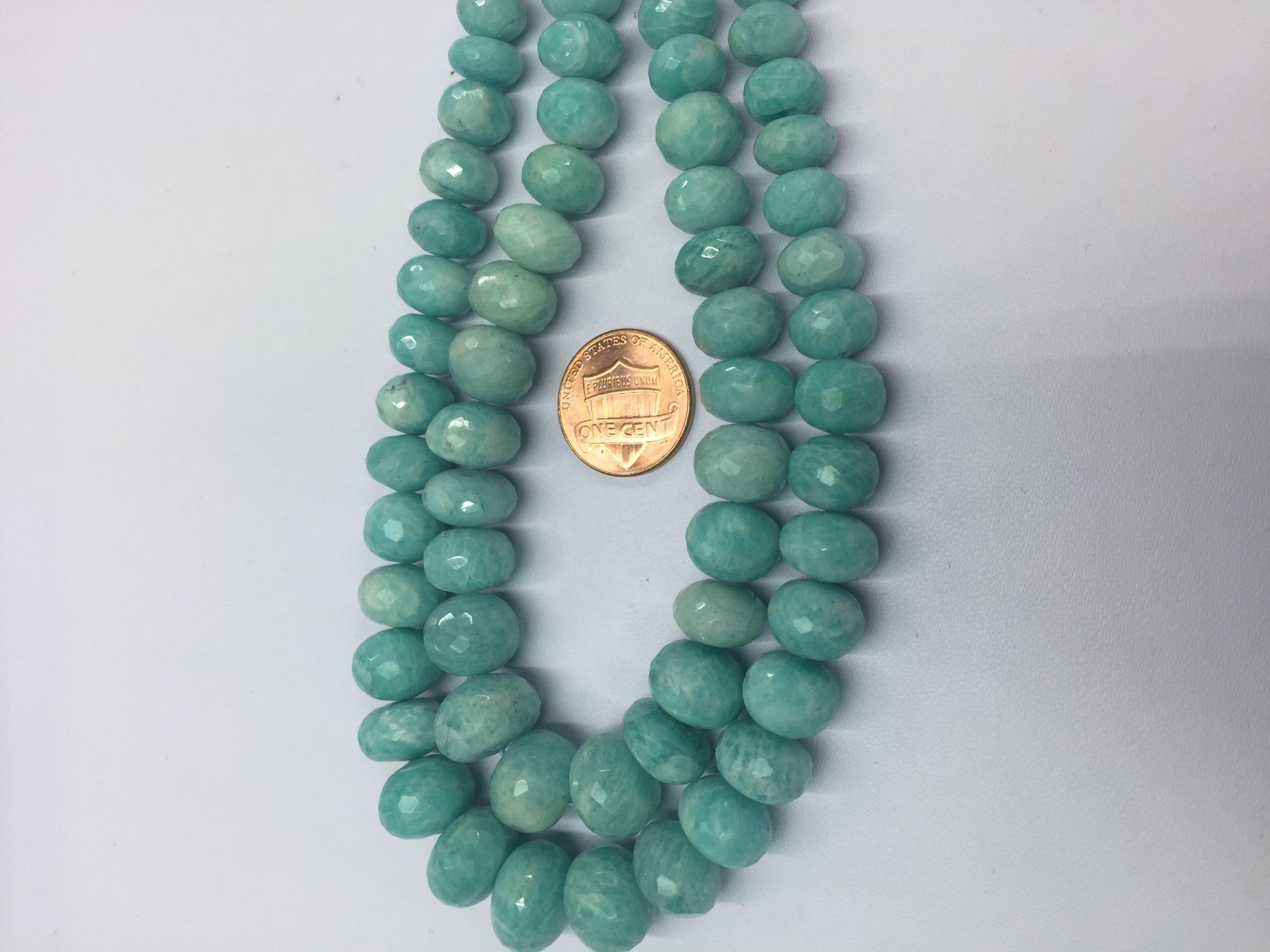 Amazonite Rondelles Faceted graduated