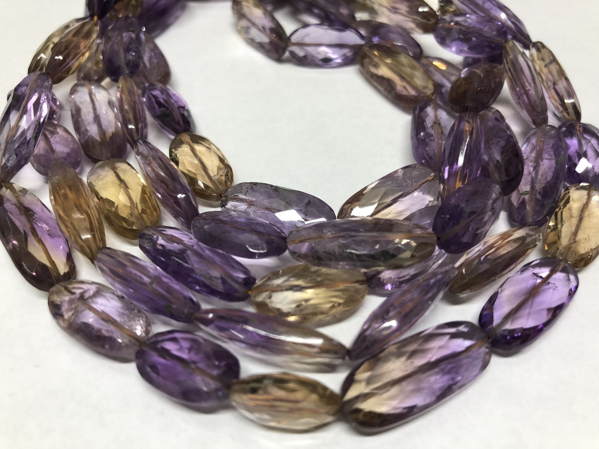 Ametrine Ovals Faceted