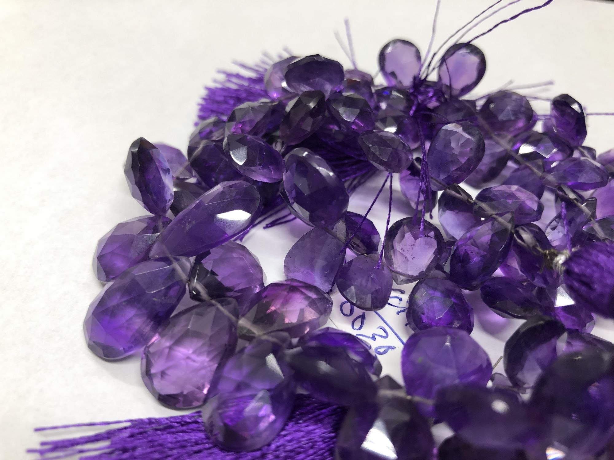 Amethyst Pears Faceted