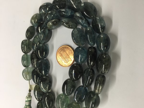 Moss Aquamarine Ovals Smooth