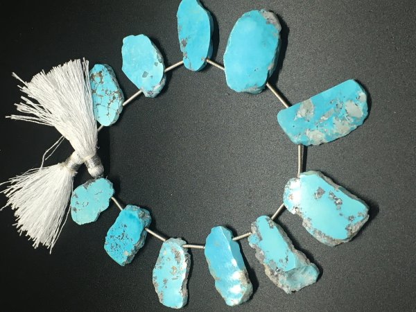 Turquoise Slices Faceted