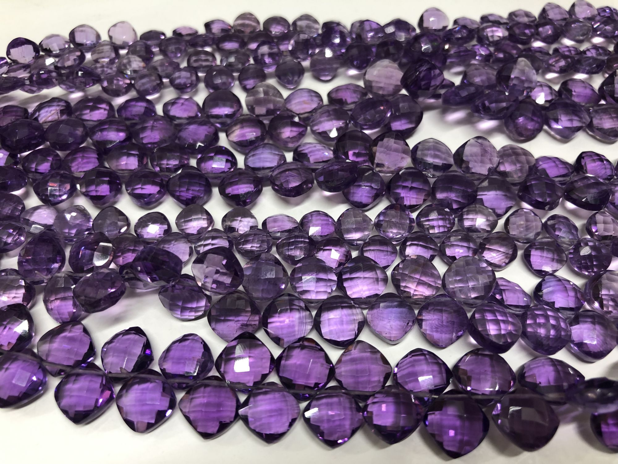 Amethyst Cushions Faceted