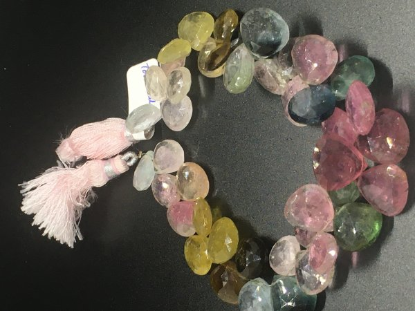 Tourmaline Hearts Faceted