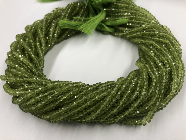 Peridot Rondelles Faceted