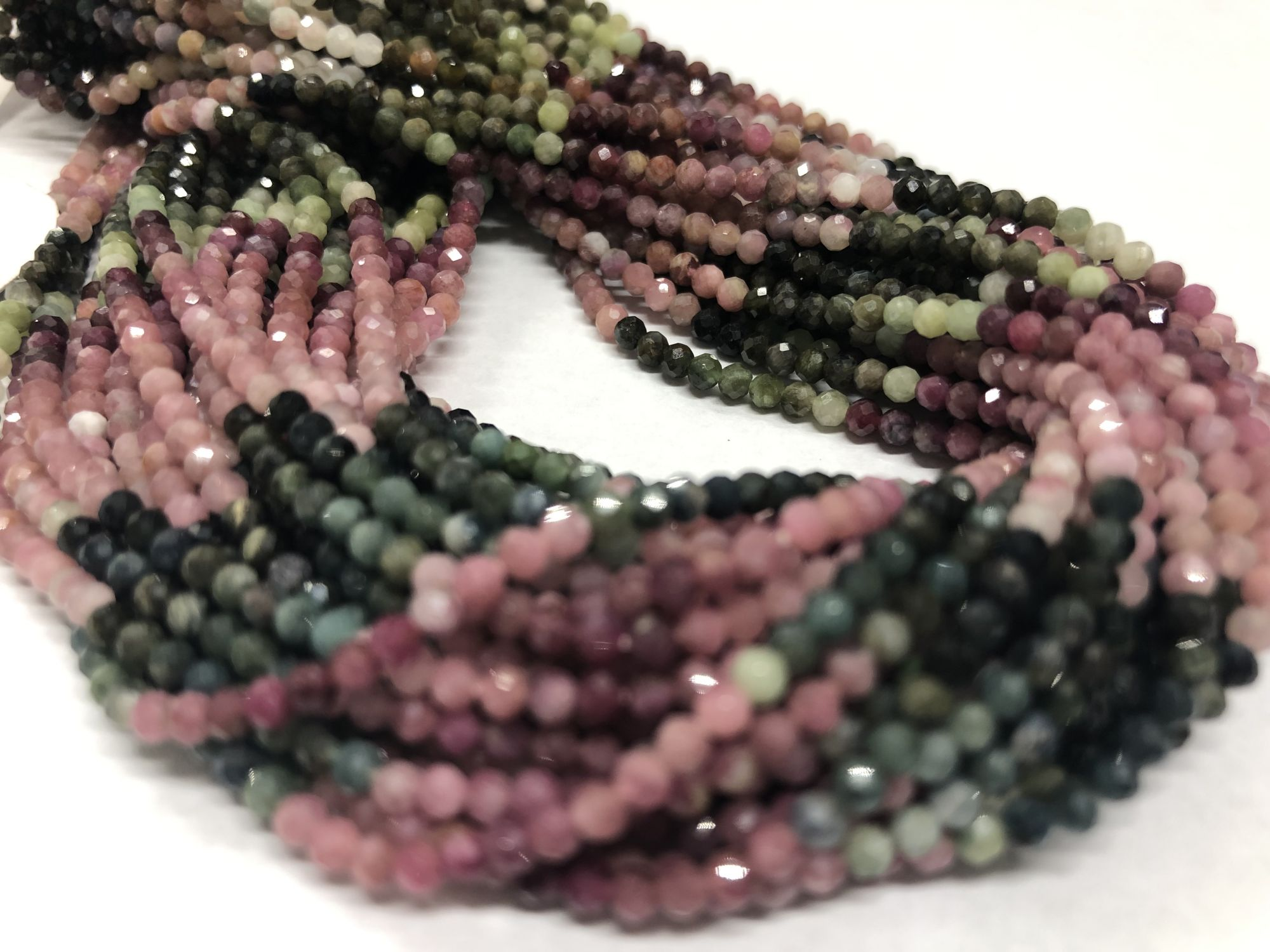 Watermelon Tourmaline Rounds Faceted