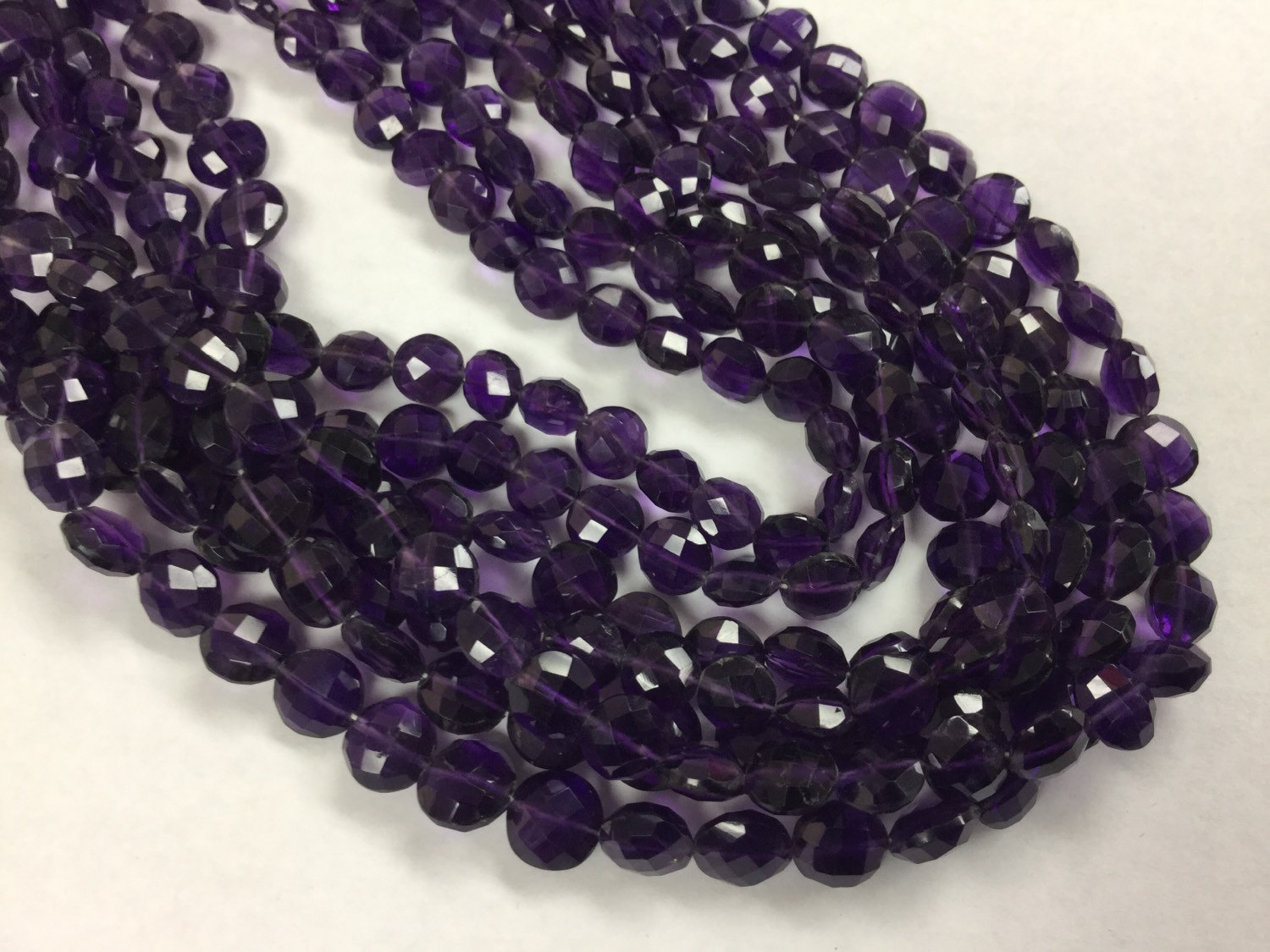 African Amethyst Coins Faceted