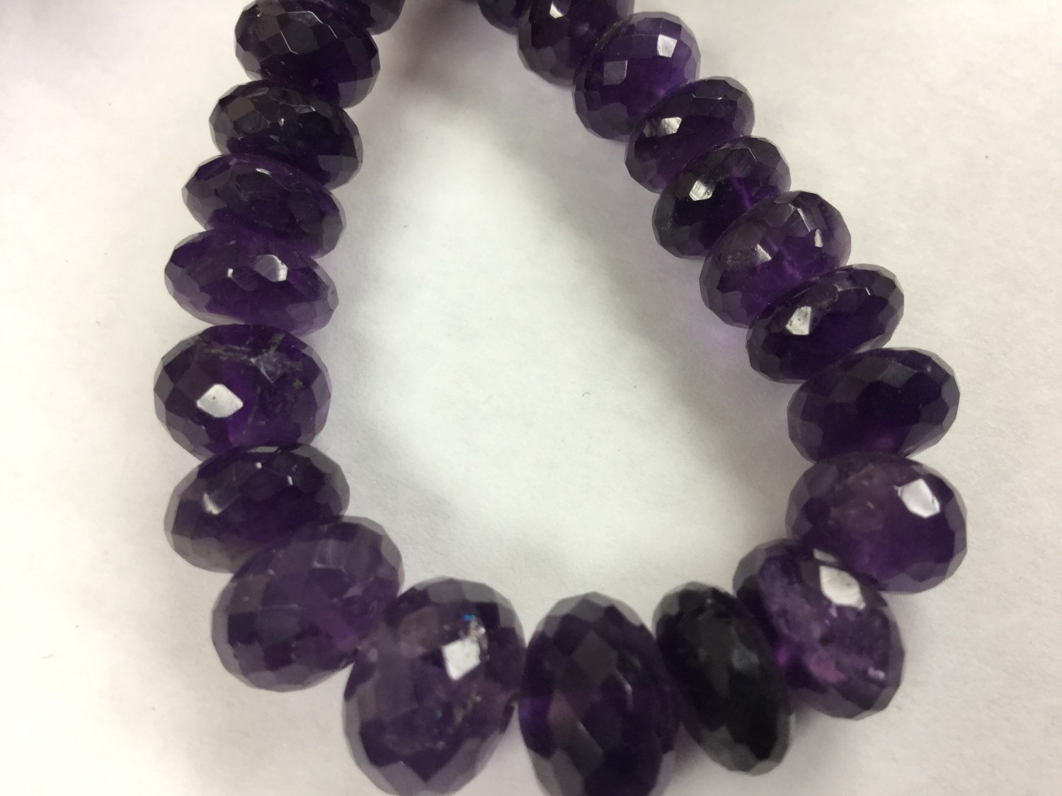 African Amethyst Rondelles Faceted