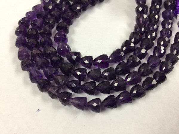 African Amethyst Straight Drilled Trillions Faceted