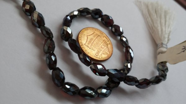 Almond Garnet Ovals Faceted
