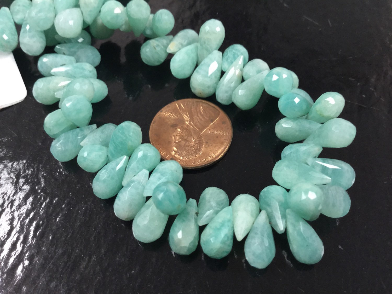 Amazonite Drops Faceted