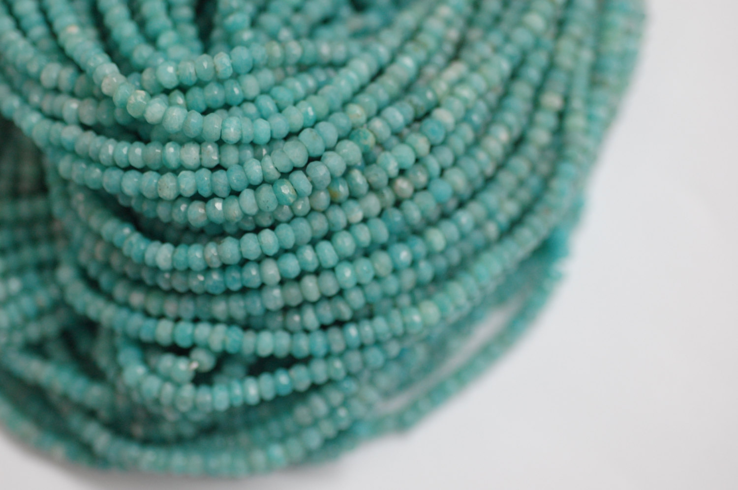 Amazonite Rondelle Faceted