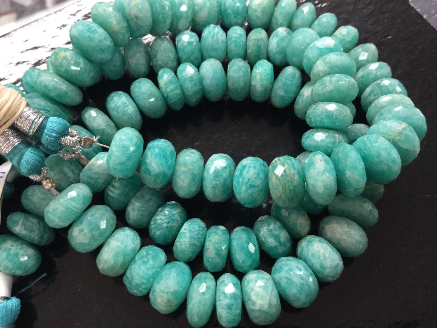 Amazonite Rondelles Faceted