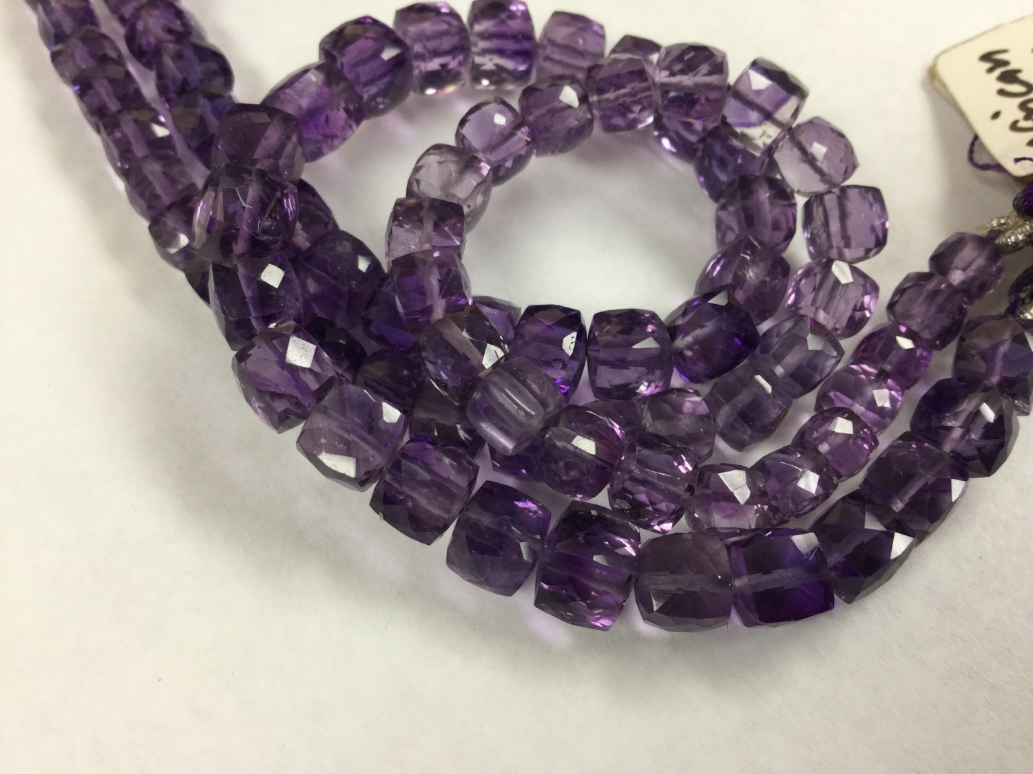 Amethyst Cubes Faceted