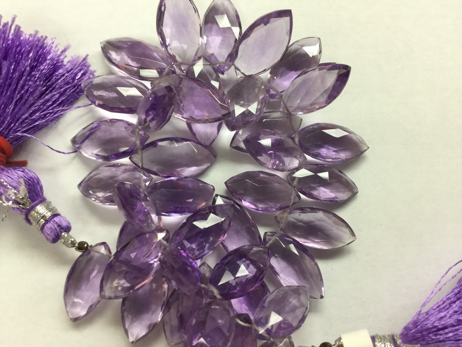 Amethyst Hydro Quartz Marquise Faceted