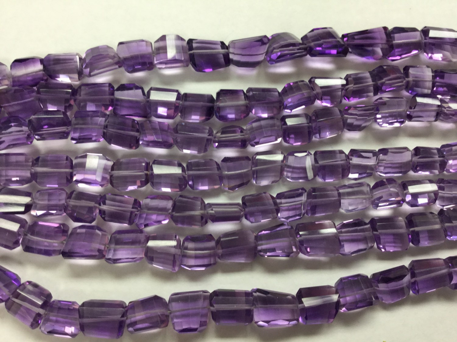 Amethyst Hydro Quartz Nuggets Faceted