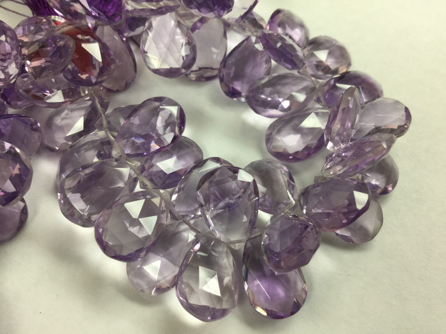 Amethyst Hydro Quartz Pears Faceted