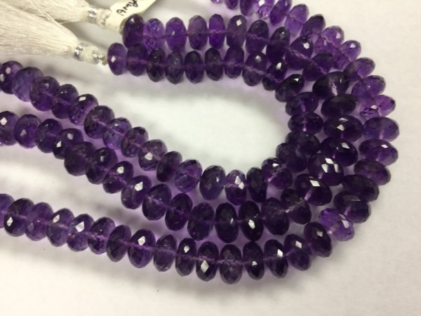 Amethyst Rondelles Faceted