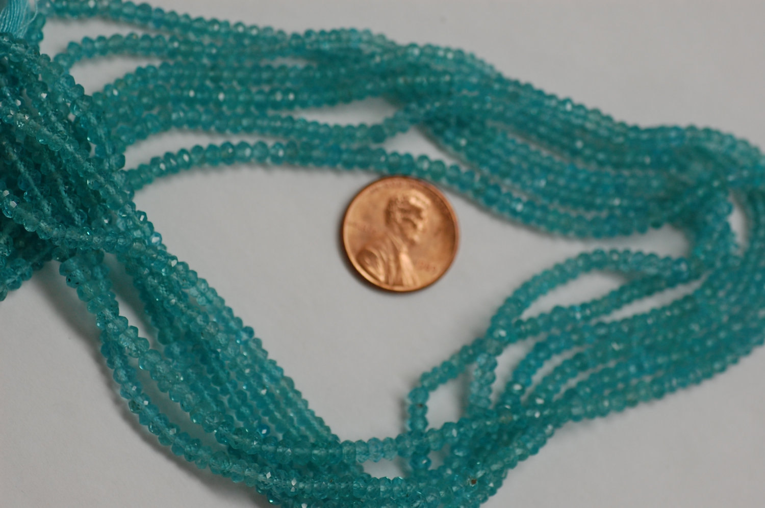 Apatite Rondelle Faceted