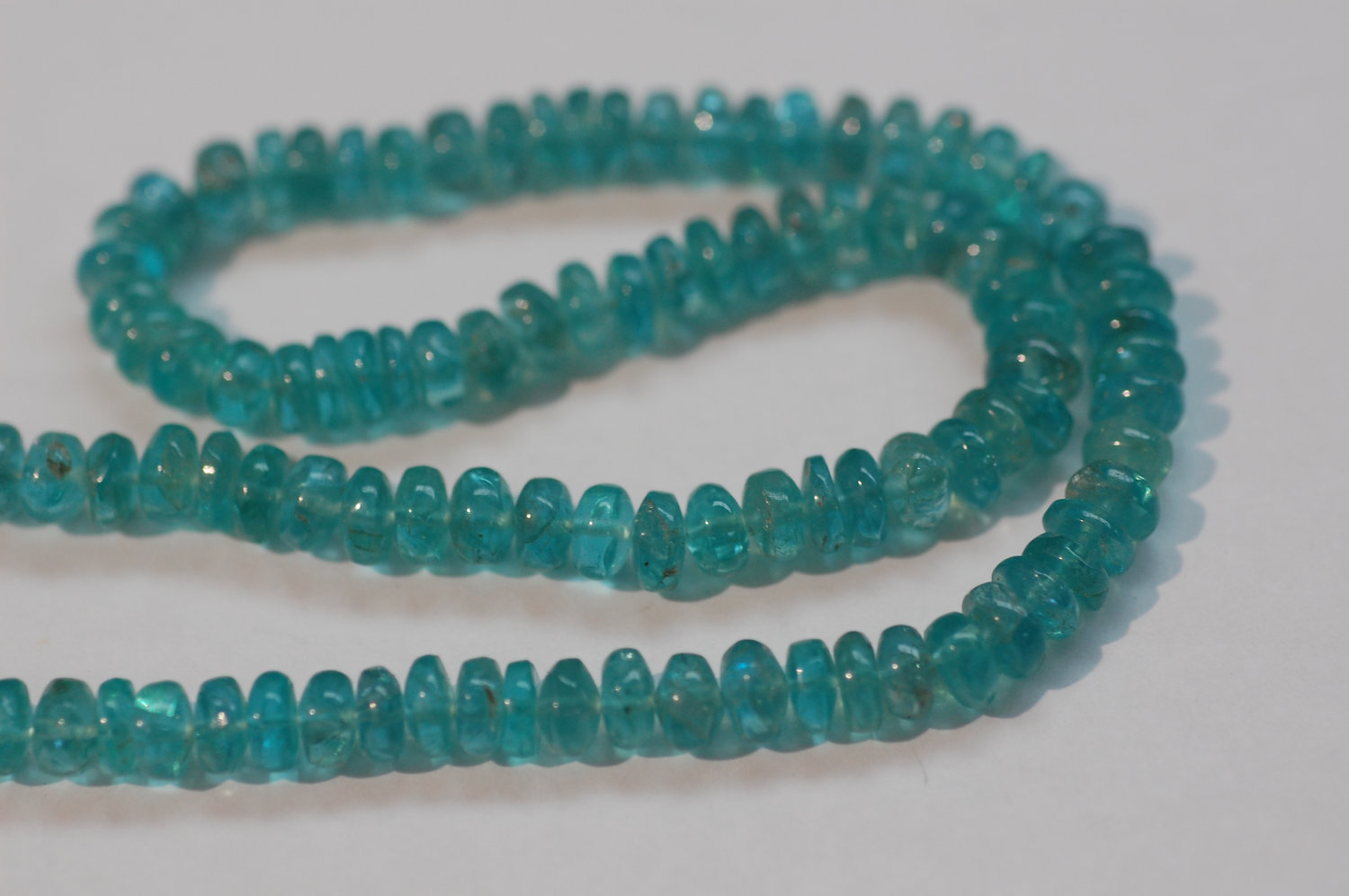 Apatite Rondelle smooth