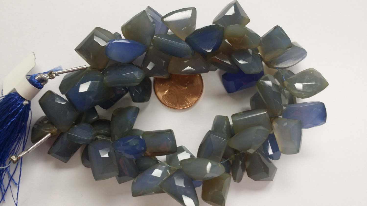 Aqua Chalcedony Funky Cut Faceted