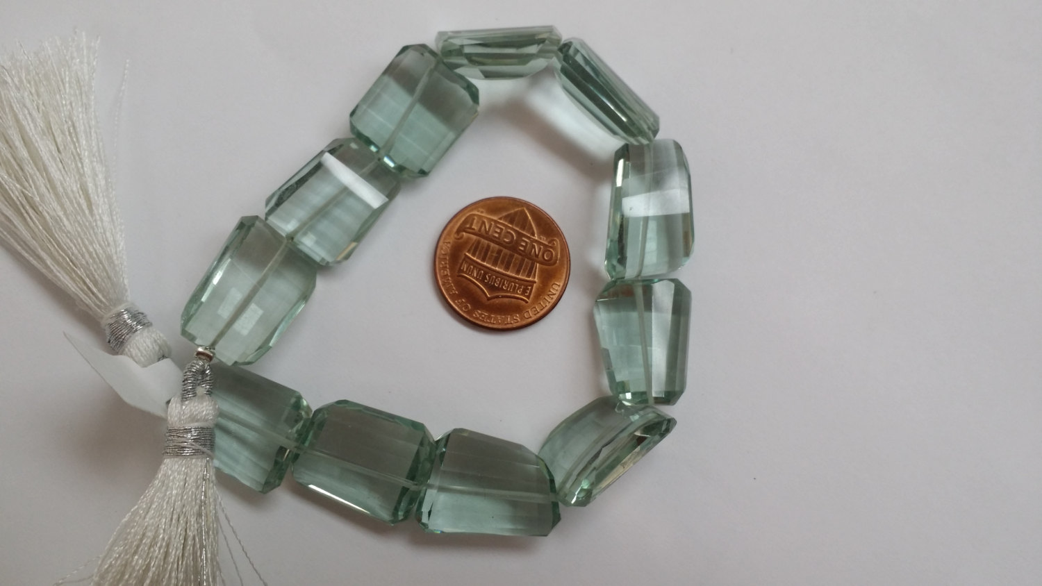 Aqua Green Hydro Quartz Nuggets Faceted