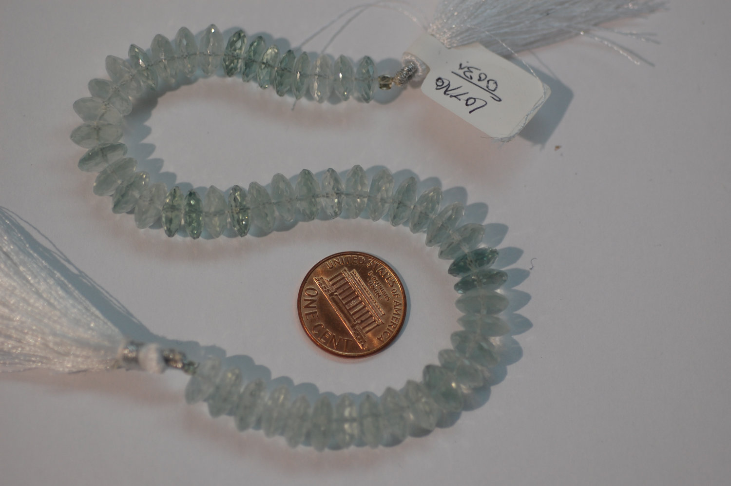 Aquamarine Hydro Quartz Disk Faceted